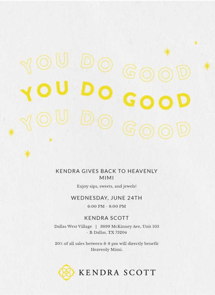 Kendra Gives Back to Heavenly